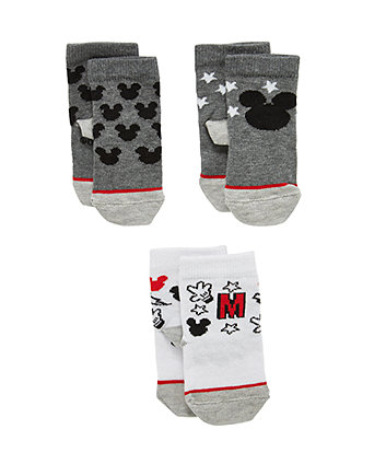 Disney Mickey Mouse Socks - 3 Pack