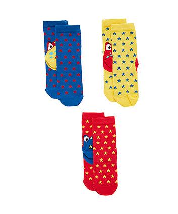 Mothercare Dino Heel Socks - 3 Pack