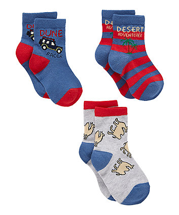 Mothercare Desert Adventurer Socks - 3 Pack