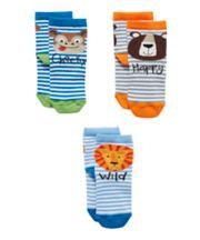 Mothercare Cheeky Animal Socks - 3 Pack