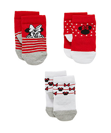 Disney Minnie Mouse Socks - 3 Pack