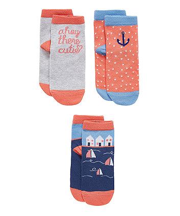 Nautical Socks - 3 Pack