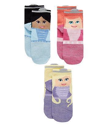 Princess Socks - 3 Pack