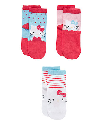 Mothercare Hello Kitty Socks - 3 Pack
