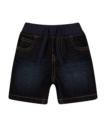 Mothercare Dark Wash Denim Shorts