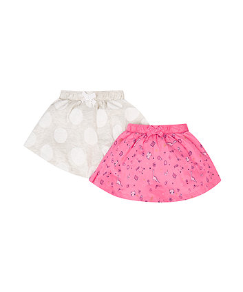 Mothercare Doodle And Spot Skirts - 2 Pack