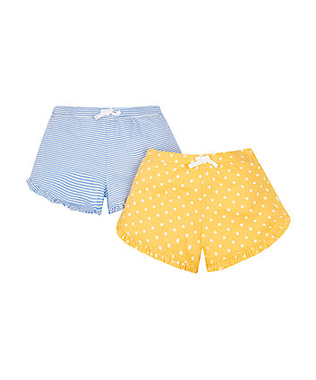 Mothercare Stripe And Spot Shorts - 2 Pack