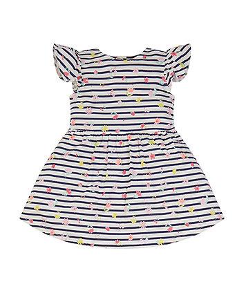 Floral Stripe Dress