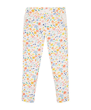 Mothercare Floral Jersey Harem Trousers