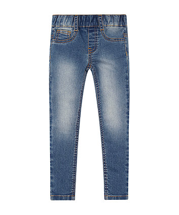 Mothercare Denim Mid Wash Woven Jeggings