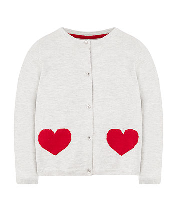 grey heart cardigan