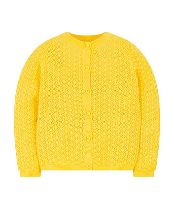Mothercare Yellow Pointelle Cardigan