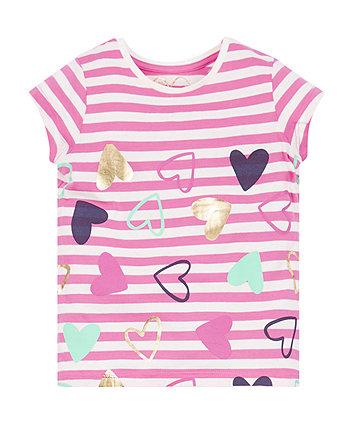 Stripe Hearts T-Shirt