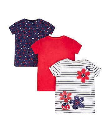Mothercare Ladybird T-Shirts - 3 Pack