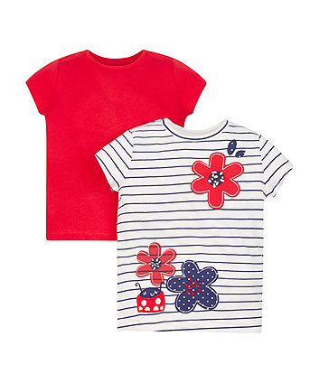 Red Ladybird T-Shirts - 2 Pack