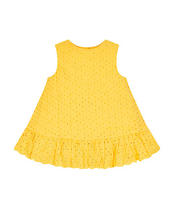 Mothercare Yellow Broderie Blouse