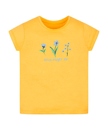 Mothercare Yellow Forget Me Not T-Shirt