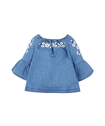 Mothercare Embroidered Chambray Blouse