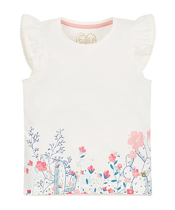 Mothercare Floral Cacti T-Shirt