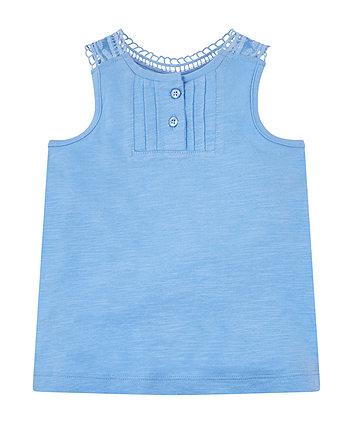Blue Lace Vest