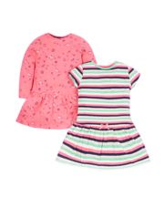 Pink And Striped Dresses - 2 Pack