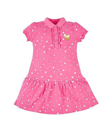 Pink Hearts Polo Dress