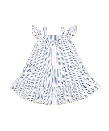 Mothercare Striped Cold Shoulder Dress