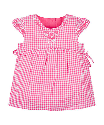 Mothercare Pink Gingham Blouse