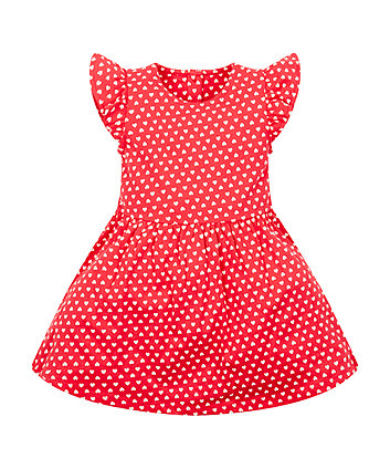 Mothercare Red Heart Jersey Dress