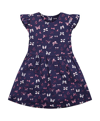 navy butterfly dress