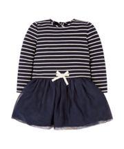Mothercare Navy Stripe Twofer Dress