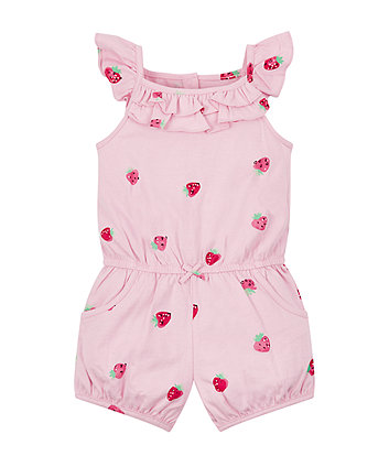Pink Strawberry Playsuit
