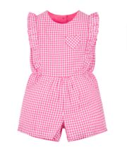 Mothercare Pink Gingham Playsuit