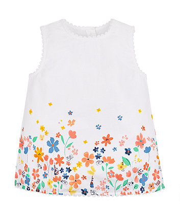 Mothercare Floral Border Blouse