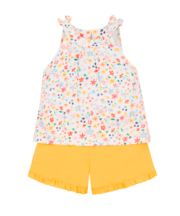 Mothercare Floral Vest And Shorts Set