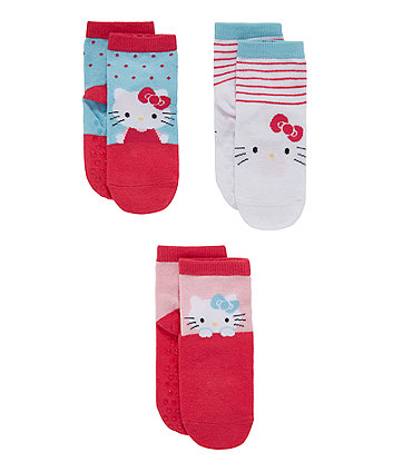 Hello Kitty Slip-Resist Socks - 3 Pack