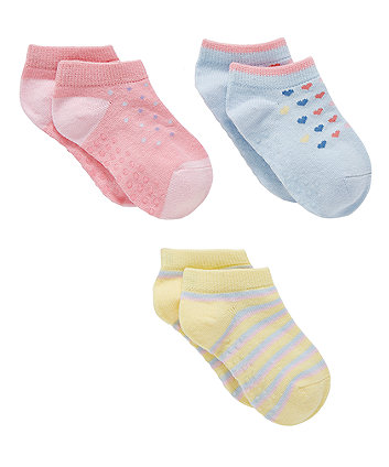 Mothercare Heart And Spot Slip Resistant Trainer Liners - 3 Pack