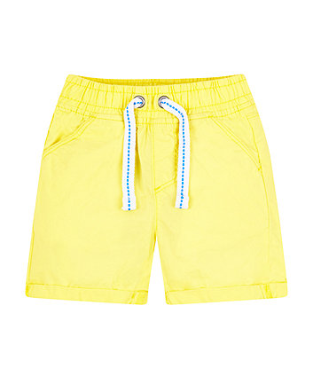Mothercare Yellow Poplin Shorts