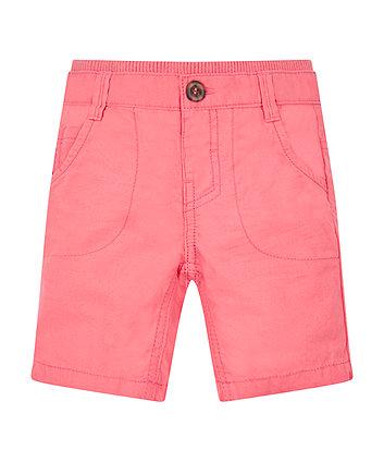 Coral Ribwaist Chino Shorts