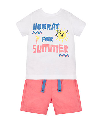 Mothercare Hooray For Summer T-Shirt And Shorts Set