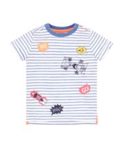 Mothercare Stripe Racecar T-Shirt
