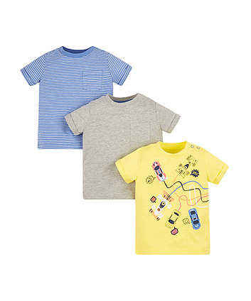 Mothercare Racing Cars T-Shirts - 3 Pack