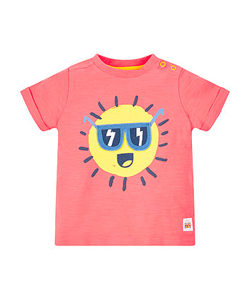 Mothercare Coral Sunshine T-Shirt