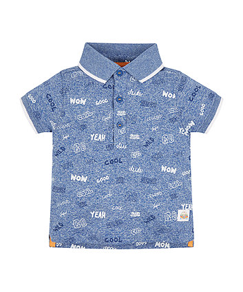 Mothercare Cool Blue Polo Shirt