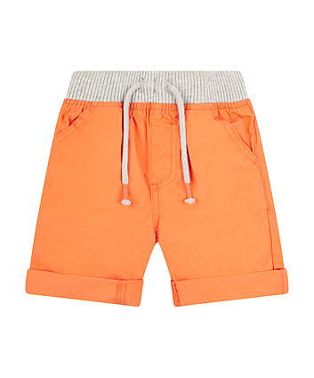 Mothercare Orange Cotton Shorts