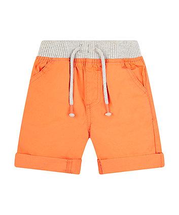 Orange Cotton Shorts
