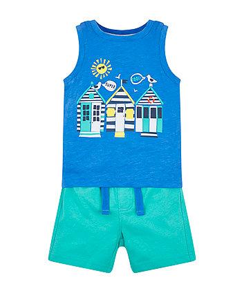 Beach Hut Vest And Shorts Set