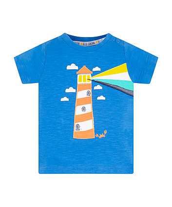 Mothercare Blue Lighthouse T-Shirt