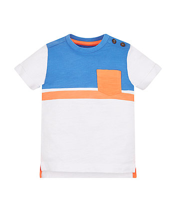 Mothercare Blue And Orange Striped T-Shirt