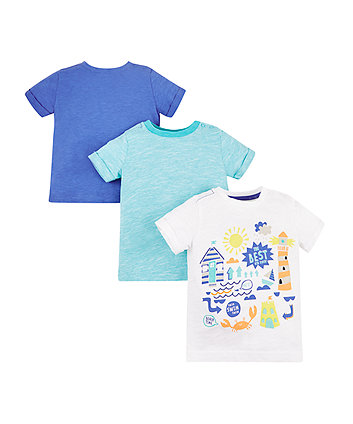 Mothercare Best Kid Ever Beach T-Shirts - 3 Pack